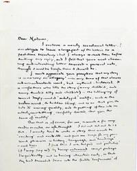 Autograph Letter Signed [ALS]; Typed Letter Signed [TLS]