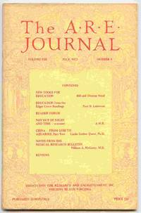 The A.R.E. Journal, Volume VIII, Number 4 by  Violet M. [editor] Shelley - 1973 - from Curious Book Shop (SKU: 19357)