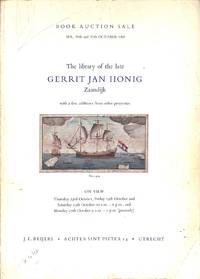 Sale 28th,29th & 30 th October 1969 - The Library of the Late Gerrit Jan  Honig - Zaandijk -  with a Few Additions from Other Properties