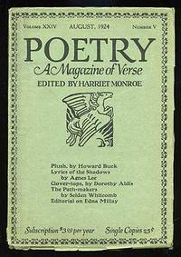 Chicago: Poetry, 1924. Softcover. Near Fine. Vol. XXIV, no. V. Near fine in wrappers with light edge...