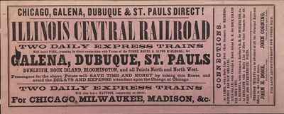 Buffalo: Clapp, Matthews & Co, 1856. About very good.. Small broadsheet, approximately 5 x 12 inches...