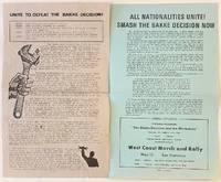 image of Unite to defeat the Bakke decision! [handbill]