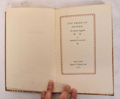 New York: James F. Drake, Inc, 1922. Hardcover. VG- (overall wear to boards but pages are in very go...