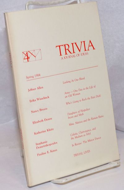 N. Amherst, MA: Trivia, 1984. 96p., wraps, 5.5 x 8.5 inches, wraps lightly worn and soiled else very...