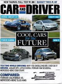 image of Car and Driver Magazine August 2009:  Cool Cars for the Future