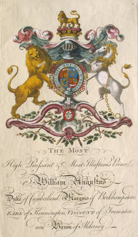 Family Crest of The Most High Puissant & Most Illustrious Prince William Augustus, Duke of Cumberland, Marquis of Berkhampstead, Earl of Kennington, Viscount of Trematon, and Baron of Alderney
