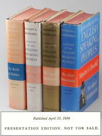 A History of the English-Speaking Peoples, Publisher's Presentation set of the first U.S. edition