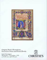 ORIGINAL BOOK ILLUSTRATIONS, DECORATIVE PRINTS AND PRINTED BOOKS (2  December 1992, South Kensington)
