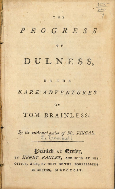 Exeter: Printed...by Henry Ranlet, 1794. 72pp. 12mo. Extracted from bound volume. Occasional foxing,...
