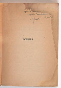 Poèmes [envoi autographe signé à Thierry Maulnier]