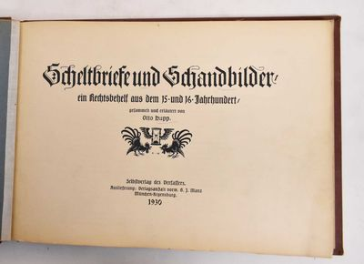 Schleißheim Selbstverl: Regensburg Verlagsanst, 1930. Hardcover. VG (overall shelfwear to boards, a...