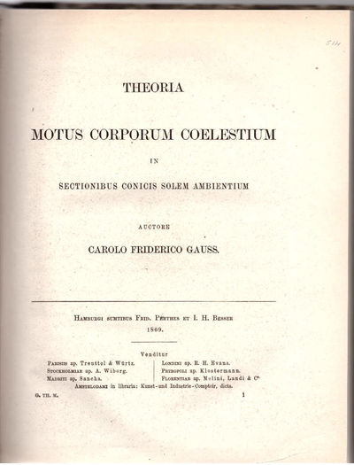 Gotha, Germany: Friedrich Andreas Perthes, 1871. As. Hardcover. Fine. This is the 1871 reprint of th...