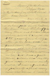 Letter from a civilian Christian Commission clergyman following the Union Army's Bristoe Campaign to his Sunday School students in Massachusetts