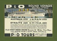 image of P&O Line Voyage Mock up artwork