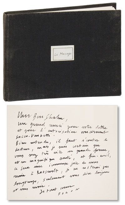 Le Message By Jean Michel Folon Signed First Edition 1967 From Lorne Bair Rare Books And Bibliocom