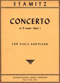 Viola Concerto in D Major, Op. 1 - for Viola and Piano [PIANO FULL SCORE & VIOLA PART]