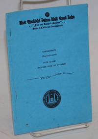 image of Subordinate (Constituent) Blue Lodge Uniform Code of By-laws;