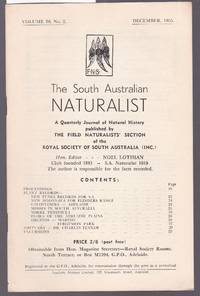 image of The South Australian Naturalist Vol.30 No.2 December 1955