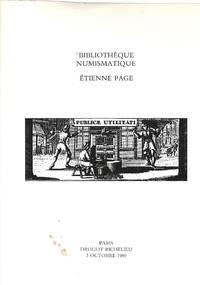 Vente 3 Octobre 1989: Bibliothèque Numismatique. Étienne Page.