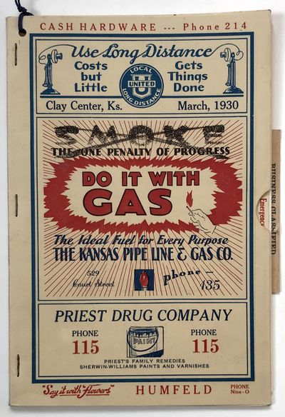 : United Telephone Company, 1930. Near Fine.. 24,8pp., plus advertisements. Original color printed w...