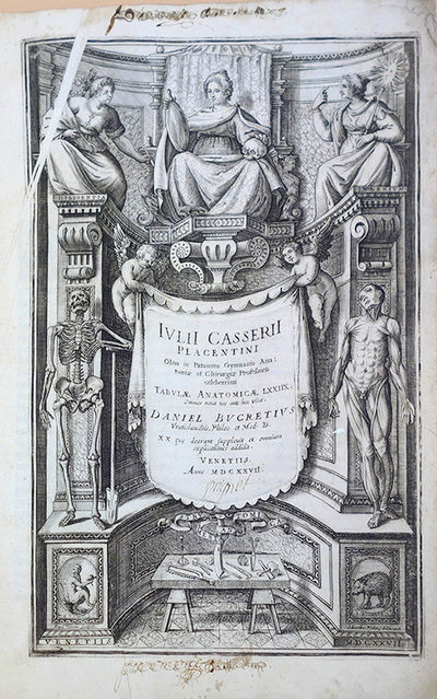 Venice: Deuchinum, 1627. Casserio, Giulio (1561?-1616) Tabulae anatomicae LXXIIX . . . Daniel Bucret...