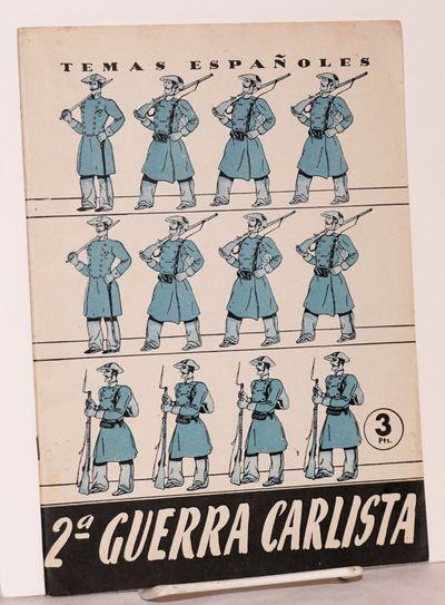 Madrid: Publicaciones Españolas, 1959. 32p., 6.5x9.5 inches, wraps. Temas Españoles 111.