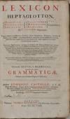 View Image 2 of 4 for LEXICON HEPTAGLOTTON, Hebraicum, Chaldaicum, Syriacum, Samaritanum, Aethiopicum, Arabicum, Conjuncti... Inventory #019794