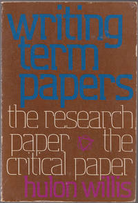 image of Writing Term Papers: the Research Paper, the Critical Paper