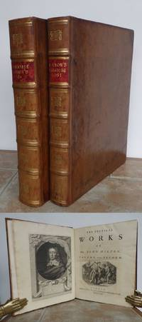MILTON'S A PARADISE LOST, A FIRST EDITION by RICHARD BENTLEY, and POETICAL WORKS VOLUME 2, CONTAINING  PARADISE REGAINED.