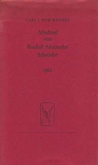 Abschied von Rudolf Alexander Schroeder