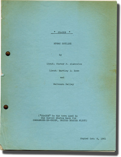 N.p.: N.p., 1941. Story Outline for an unproduced film called