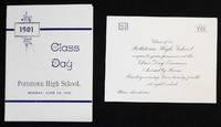 Pottstown High School Class Day 1901 [invitation and program]