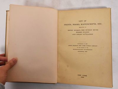 New York: New York Public Library, 1909. Hardcover. G- (shelf and age wear to cover, leather is rubb...