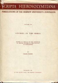 Studies in the Bible.