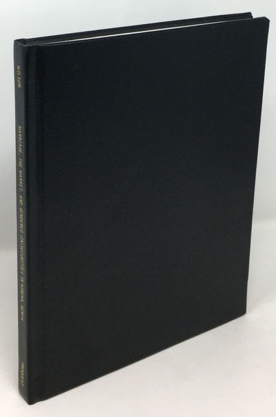 Hardcover, black buckram with gilt spine titles, 21.5 by 28 cm, viii 210 pp., charts, maps, color ph...
