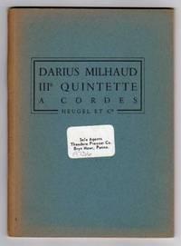IIIe Quintette a Cordes [String Quintet III]