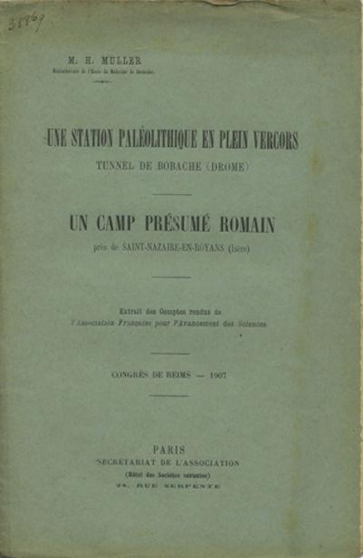 Paris: Secrétariat de l'Association, 1907. Offprint. Paper wrappers. A very good partially unopened...