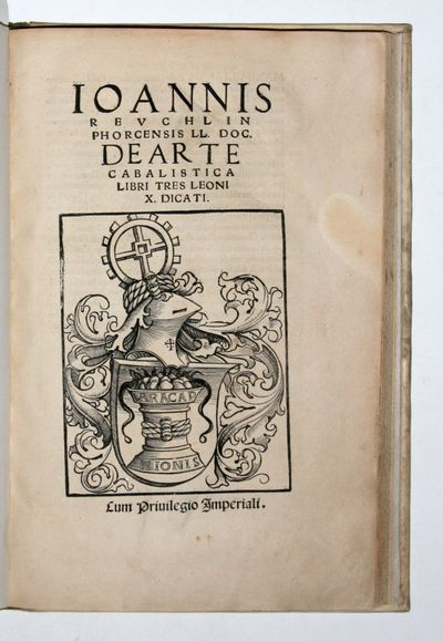 Hagenau: Thomas Anselm, 1517. Scarce first edition and fine copy of Reuchlin's cabalistic studies,...