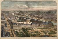Panoramic View of Paris with the Louvre and Rue de Rivoli Completed