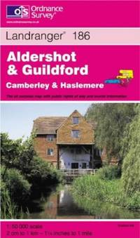 Aldershot and Guildford, Camberley and Haslemere (Landranger Maps)