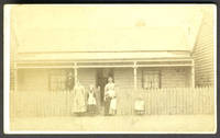 Carte-de-visite of Australian family in front of their home in Victoria