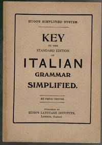 image of Key to the Standard Edition of Italian Grammar Simplified