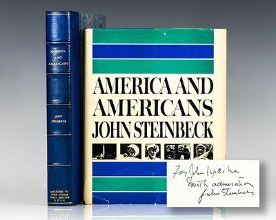 New York: The Viking Press, 1966. First edition of Steinbeck's final book. Quarto, original half clo...