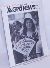 image of GPU News vol. 4, #9, June 1975: Marcher in New York's Gay Pride Parade
