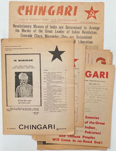 Toronto: Hindustani Ghadar Party, 1972. Seven issues of the publication, in varying format, on newsp...