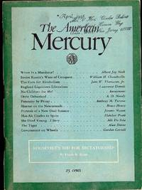 THE AMERICAN MERCURY; April, 1938