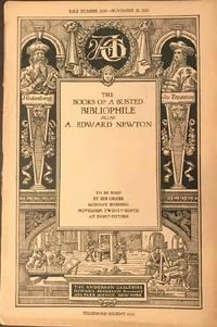 image of The Books of a Busted Bibliophile: alias, A. Edward Newton (NY: Nov. 29,  1926)