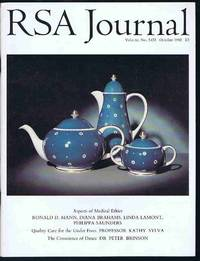 RSA Journal No. 5433 October 1992: The Journal of the Royal Society for the Encouragement of...