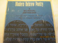 image of Modern Hebrew Poetry: A Bilingual Anthology