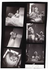 image of Original contact sheet with six distinct images of Josephine Baker at the Casino de Paris Theatre in 1939